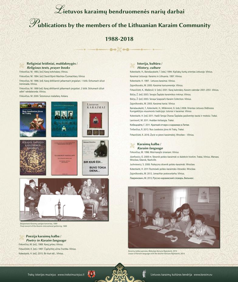 Bendruomenės narių veikla 1988-2018